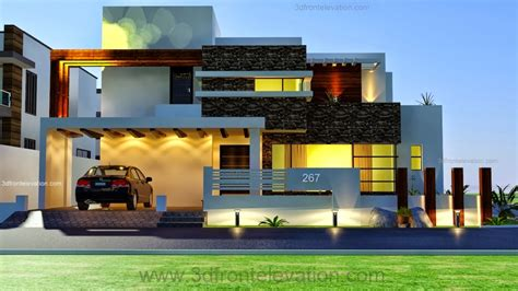3d front elevation com new 1 kanal contemporary house 3d front elevation com 1 kanal modern contemporary design