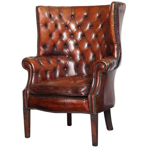 Library Chair by Georgian Style Leather Library Chair At 1stdibs