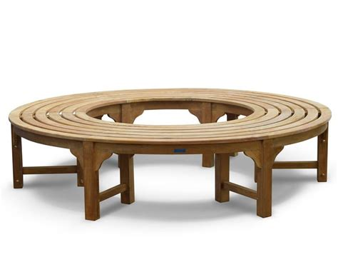 wrap around bench saturn teak circular tree seat backless wrap around tree