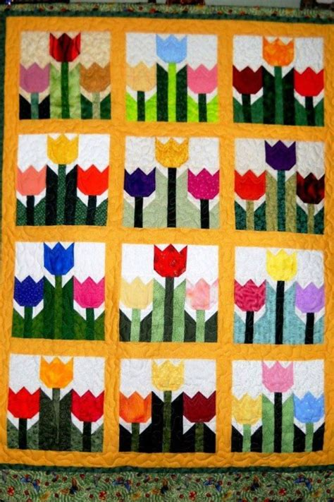 tulip quilt crafts sewing quilts