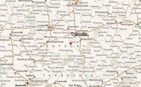 ky map danville danville kentucky location guide