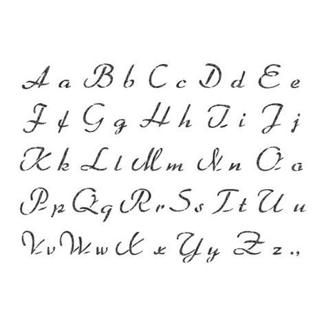 printable letter stencils script french script alphabet stencil shabbyand