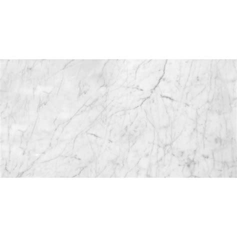 italian white carrara marble polished 12x24 floor and wall