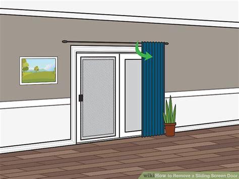 sliding screen door stop how to remove a sliding screen door 9 steps with pictures
