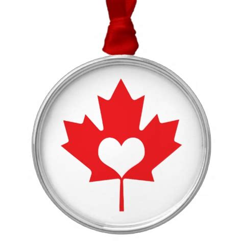 classic canadian maple leaf and heart canada day christmas