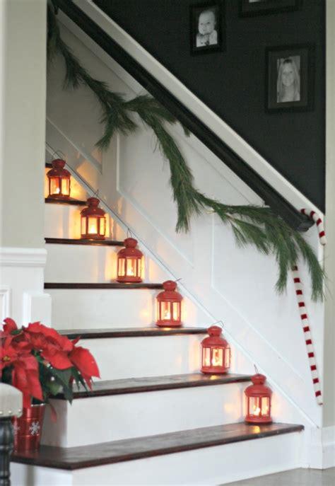 treppenaufgang dekorieren 1001 dekoideen weihnachten das treppenhaus