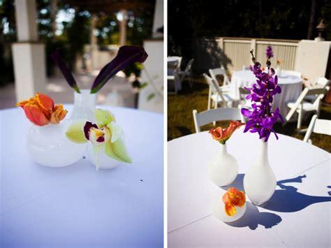 Purple Florida Beach Wedding Part 2 Every Last Detail Purple And Orange Centerpieces For Weddings
