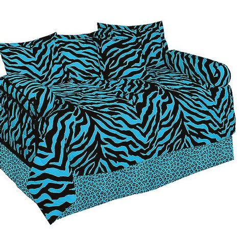 blue zebra print daybed cover set animal print daybed