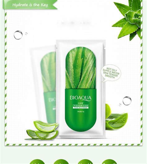 Bioaqua Aloe Vera Essence Nourish Mask bioaqua jelly whitening moisturising masks 10 pcs set 11street malaysia masques