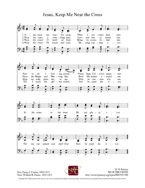 Lyrics To The Blood That Jesus Shed For Me by Near The Cross Hymnary Org