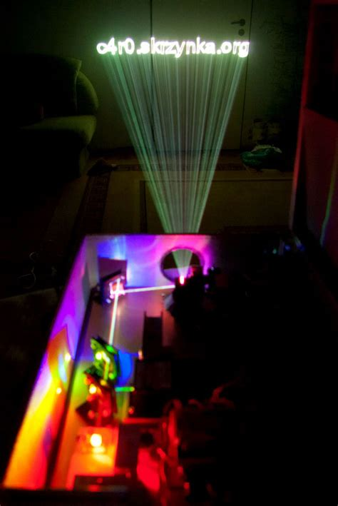 home built rgb laser projector
