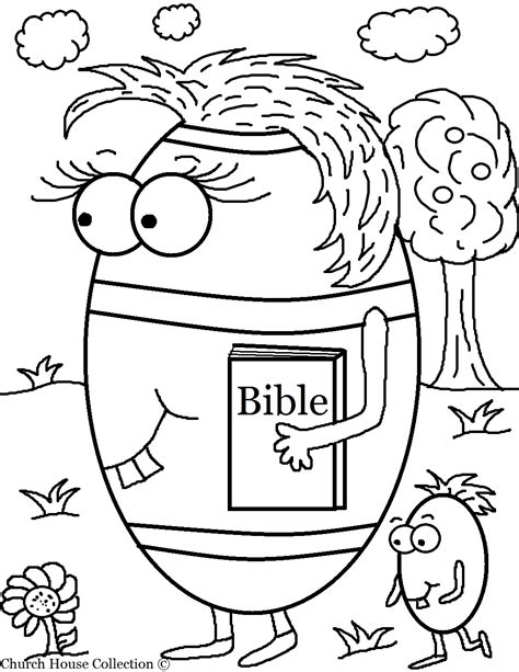 coloring pages for easter for sunday school church house collection free easter egg carrying