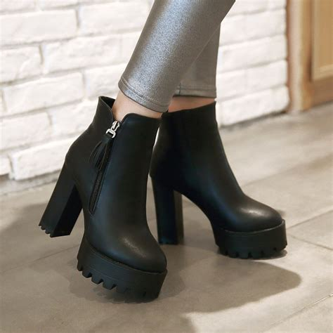 High Heels Boot Zed aliexpress buy 2016 high heel platform s boots winter rouned toe ankle boots