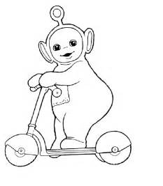po scooter teletubbies coloring pages free coloring