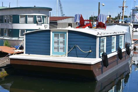 seattle house boat seattle houseboat blue bobbin sold