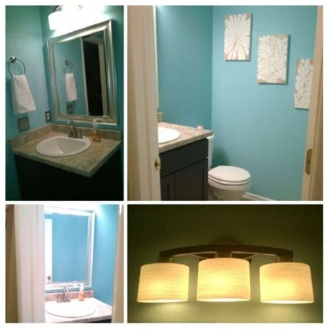 bathroom wall color sea lilly by valspar home style half bath remodel light from lowe s wall color is