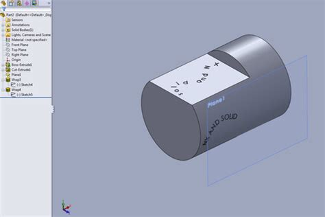 solidworks tutorial wrap tutorial2 how using wrap in solidworks grabcad