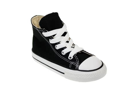 shoes for size 2 converse ct toddler black canvas high top trainers