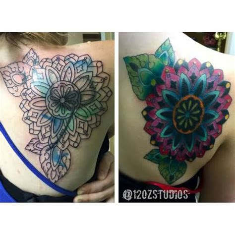 tattoo mandala cover up before and after cover up tattoo full color mandala female