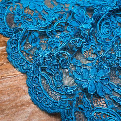 peacock blue peacock blue heavy corded lace fabrics dubai by pani