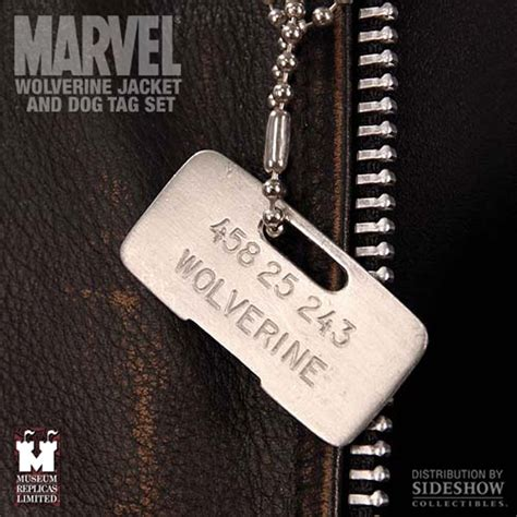 wolverine tags wolverine jacket and tag set apparel museum replicas sideshowcollectibles