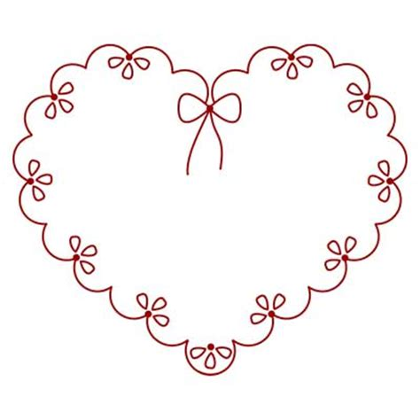 Heart Embroidery Pattern | michele bilyeu creates with heart and hands free
