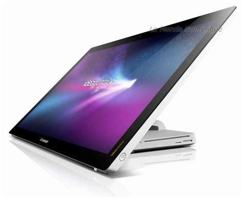 pc bureau ecran tactile ces 2012 lenovo ideacentre a720 un ordinateur tout en