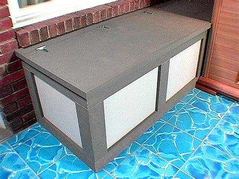 woodwork patio storage bench diy  plans