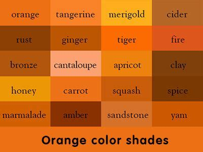 orange shades names 63 best photoshop color coding images on pinterest color palettes wall paint colors and color