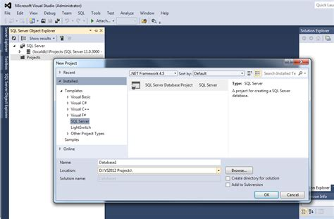template project missing ssdt project templates missing in vs 2012