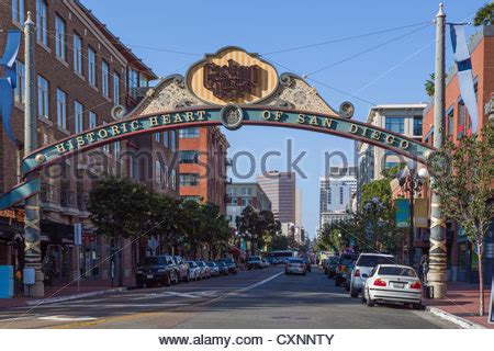 L District San Diego by Nightlife In The Gasl Quarter San Diego California Usa Stock Photo Royalty Free Image