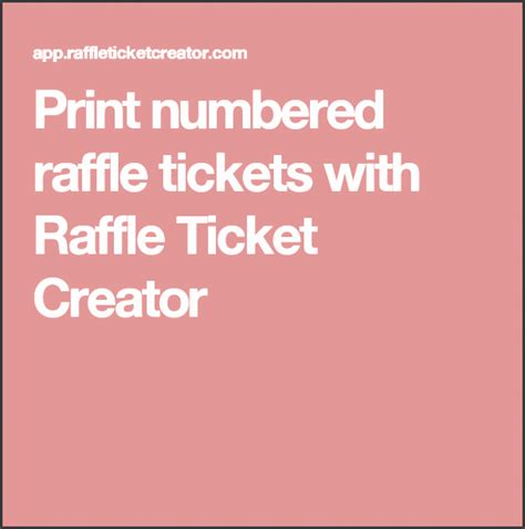raffle ticket creator sampletemplatess sampletemplatess