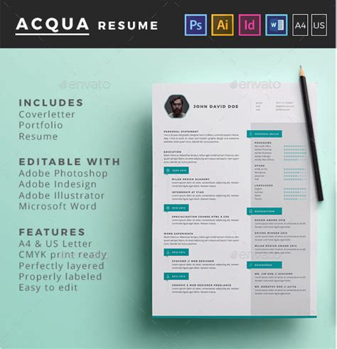 graphic design resume template illustrator best free resume templates in psd and ai in 2018 colorlib
