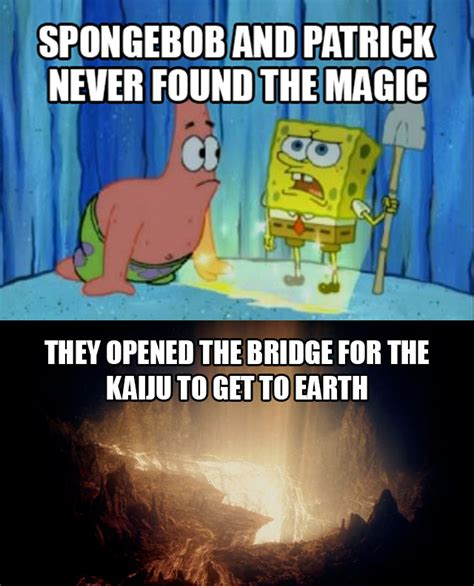 Spongebob And Patrick Memes - spongebob and patrick created pacific rim pacific rim