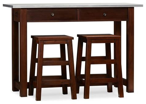 Indoor Bar Table Balboa Counter Height Table And Stools Espresso Contemporary Indoor Bar Tables Other