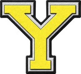 presentation alphabets yellow varsity letter y