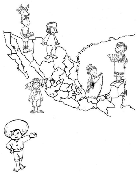 mexico map coloring pages mexico s map of traditional dress free coloring pages coloring pages recursos