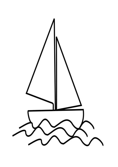 boat waves drawing line drawing of a boat clipart best