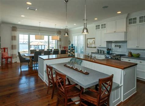 designing kitchen island beautiful kitchen islands with bench seating designing idea