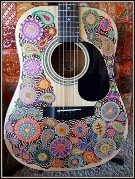 doodle guitar sharpie doodle guitar