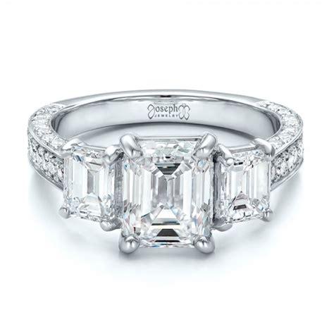 Emerald Cut Engagement Rings by Custom Emerald Cut Engagement Ring 100723