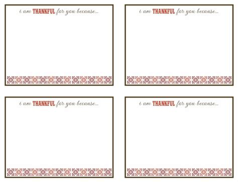 we are thankful card template thankful for friends and family plus a free printable