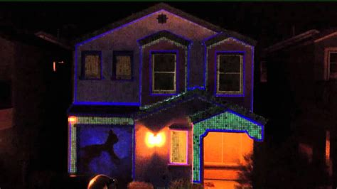 christmas lights projector on house christmas house projection video youtube