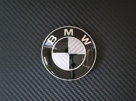 bmw logo replacement 82mm carbon fiber bmw replacement emblem bmw