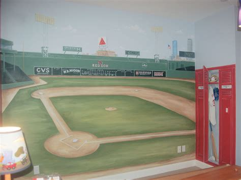 sports murals for bedrooms sports murals traditional kids boston by