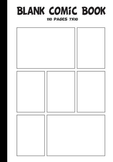 Barnes Noble Printable Coupons Blank Comic Strip Blank Comic Book 7 X10 With 7 Panel