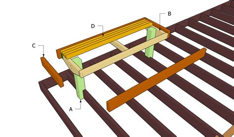 diy deck bench plans deck bench plans myoutdoorplans free woodworking plans and projects diy shed