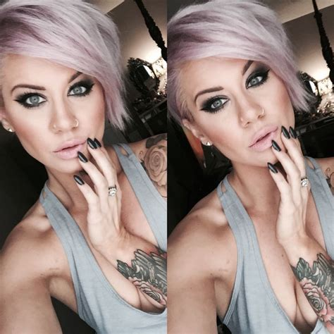 Make Up Pixy make up look stiletto nails pastel hair pixie cut