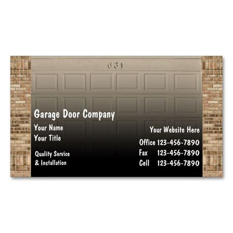 garage cards templates 1978 best images about handyman business cards on