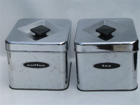 silver kitchen canisters 50s 60s vintage kitchen canisters mod silver chrome
